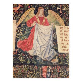 Ángel que sostiene la cubierta postales