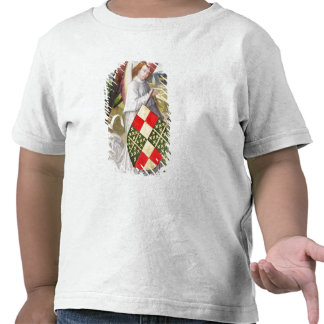 Ángel que sostiene un escudo camisetas