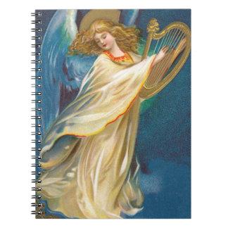 Ángel que toca la arpa cuadernos