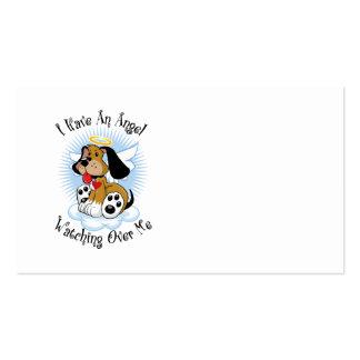 Ángel que vigila mí el perro plantilla de tarjeta de visita