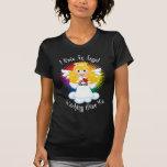 Ángel que vigila mí LGBTQ Camisetas