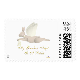 Angel Rabbit Tan Yellow Roses Guardian Angel Rabbi Stamps