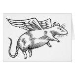 Angel rat greeting cards