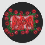 Angel Red, roses, sticker