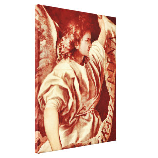 Angel Renaissance Stretched Canvas Print