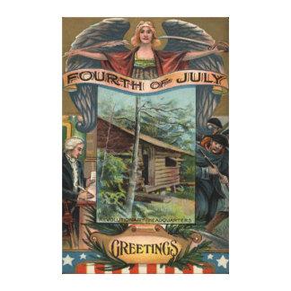 Angel Revolutionary War Cabin Soldiers Canvas Print