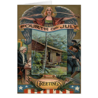 Angel Revolutionary War Cabin Soldiers Card