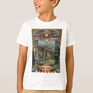 Angel Revolutionary War Cabin Soldiers T-Shirt