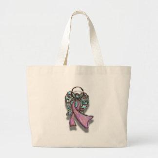 Ángel rosado de la cinta bolsa