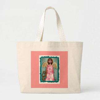 Ángel rosado del Hydrangea - la bolsa de asas de b