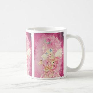 Ángel rosado lindo taza