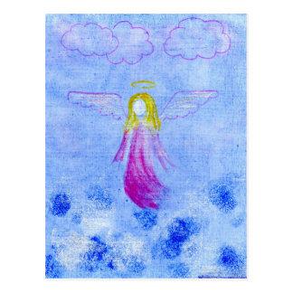 Ángel rosado tarjeta postal