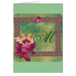 Angel Rose Monogram Greeting Cards