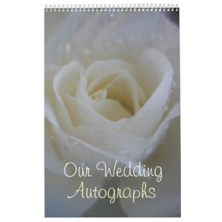 Angel Rose Wedding Autograph / Guest Book Calendar