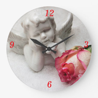 Angel & Rosebud Clock