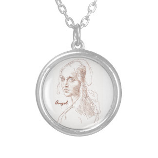 Angel Round Pendant Necklace