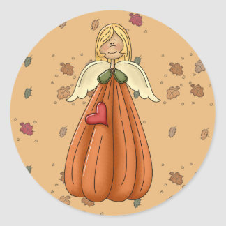 ángel rubio de la calabaza pegatinas redondas