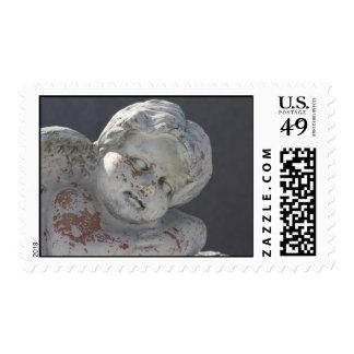 angel sculpture postage stamp