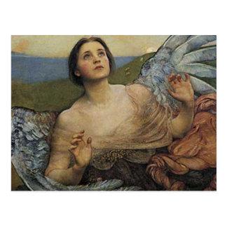 Angel sense of sight postcard