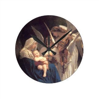 Angel Serenade Round Clock