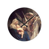 Angel Serenade Round Wall Clocks