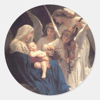 Angel Serenade Classic Round Sticker