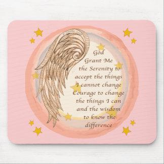 Angel Serenity Prayer Mouse Pad