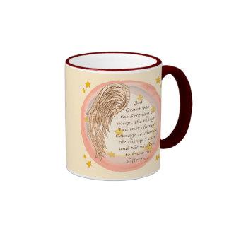 Angel Serenity Prayer Coffee Mugs