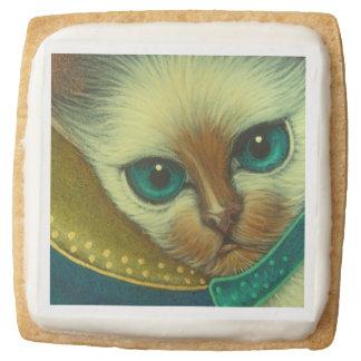 ANGEL SIAMESE CAT Premium Shortbread Cookies Square Premium Shortbread Cookie