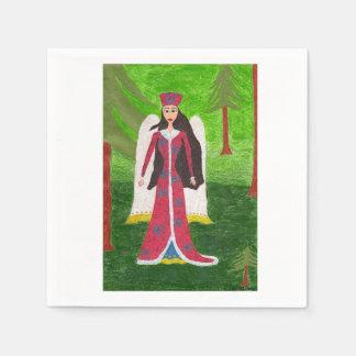 Ángel siberiano servilletas de papel