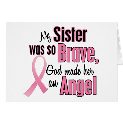 Angel SISTER Breast Cancer T-Shirts & Apparel Card