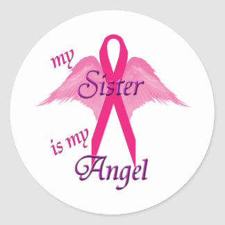 Angel Sister Classic Round Sticker