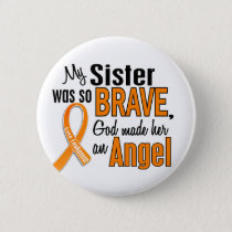 Angel Sister Leukemia Button