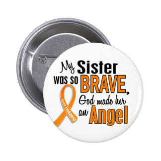 Angel Sister Leukemia Button