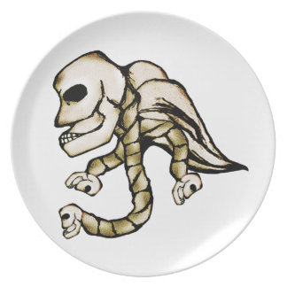 Angel Skull Party Plate