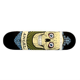 Angel Skull Skeleton with Halo with Bird Wings art Skateboard Deck