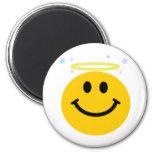 Angel Smiley 2 Inch Round Magnet