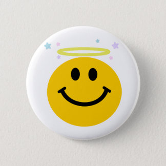 Angel Smiley Button