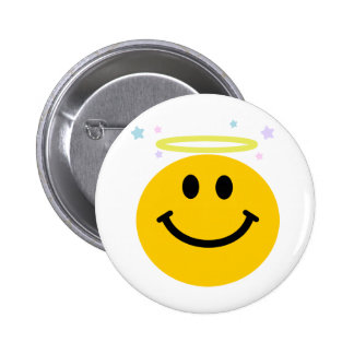 Angel Smiley Pinback Buttons