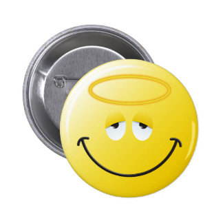 Angel Smiley Face Button