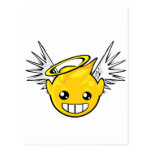 angel smiley face postcards