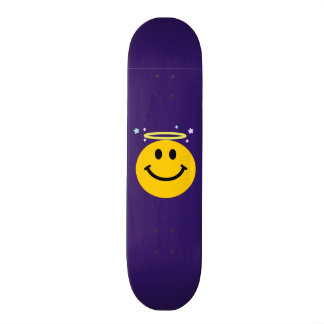 Angel Smiley face Skateboard Deck