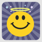 Angel Smiley face Square Sticker