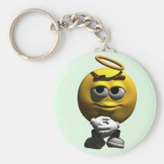 Angel Smiley Keychain