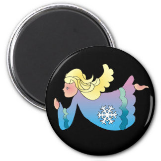 ANGEL & SNOWFLAKE by SHARON SHARPE Magnet