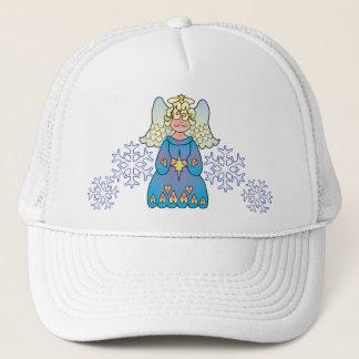 ANGEL & SNOWFLAKES by SHARON SHARPE Trucker Hat
