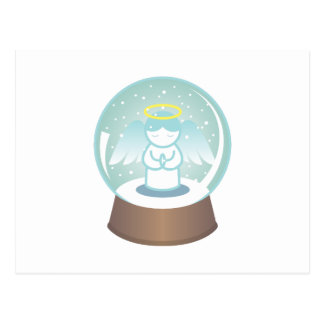 Angel Snowglobe Postcard