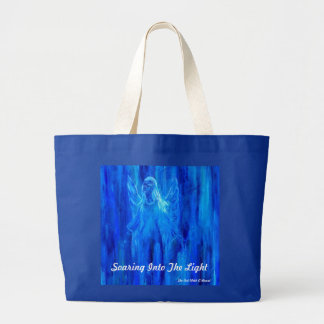 Angel Soaring Into The Light Large Tote Bag