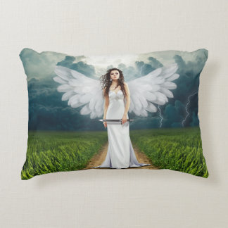 Angel Soldier Decorative Pillow