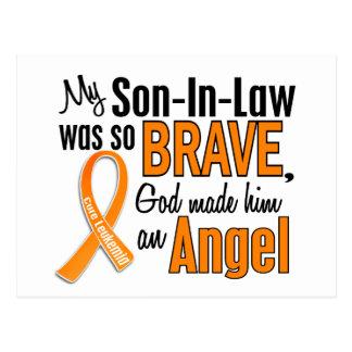 Angel Son-In-Law Leukemia Postcard